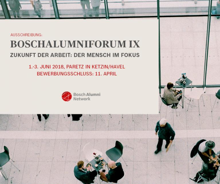 JG Bosch Alumni Forum IX: Zukunft der Arbeit